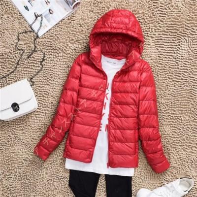 コート ショートコート 中綿ジャケット レディース 冬 長袖 冬物 無地 ダウンジャケット ダウンコート アウター 冬服 フード付き 上質 軽量 防風 防寒 無地