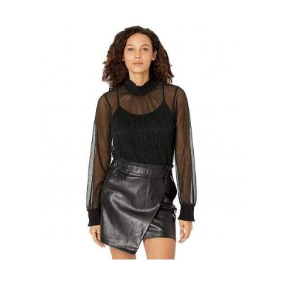Rock and Roll Cowgirl ロックンロールカウガール レディース 女性用 ファッション ブラウス Billow Sleeve Top B4-7602 - Black