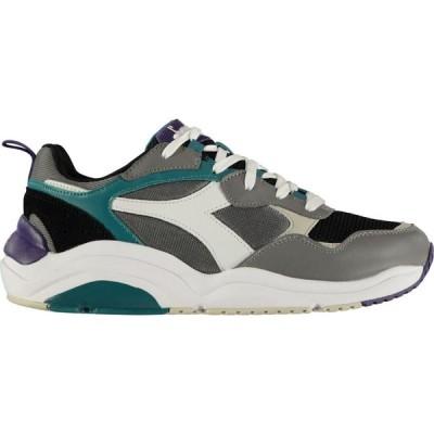 ディアドラライフスタイル Diadora Lifestyle メンズ スニーカー シューズ・靴 Whizz Run Trainers Charcoal/White