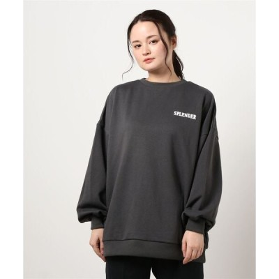 tシャツ Tシャツ スウェット/Backロゴチュニックトップス