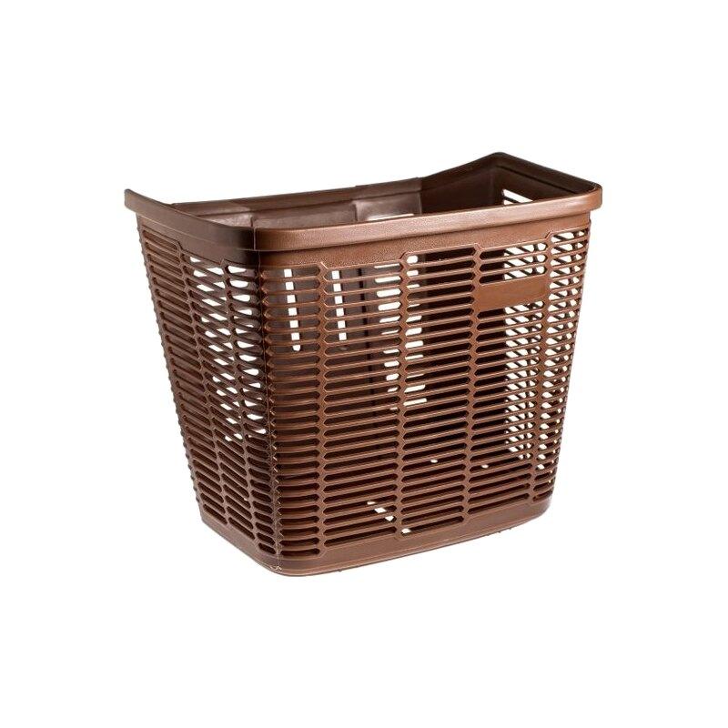 《意生》咖啡色塑膠大菜籃 / 前置物籃 / 塑膠菜籃(附菜籃螺絲包)
