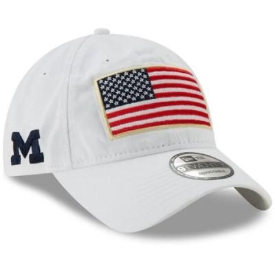 ユニセックス スポーツリーグ アメリカ大学スポーツ Michigan Wolverines New Era Country First 9TWENTY Adjustable Hat - White - OS