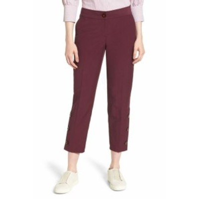 Nordstrom ノードストローム ファッション パンツ Nordstrom Signature NEW Purple Women 10X27 Slim Crop Side-Button Pants