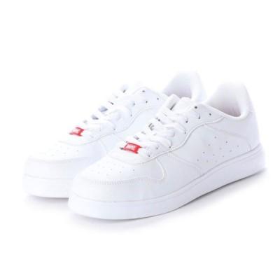 マーベル メンズ レディース MVバスケスニーカーW スニーカー : ホワイト MARVEL 白スニーカー 白靴 通学スニーカー 白スクールシューズ 通学靴