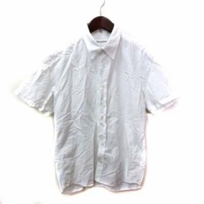 【中古】ヴァンキッシュ VANQUISH シャツ 半袖 L 白 ホワイト /YI メンズ