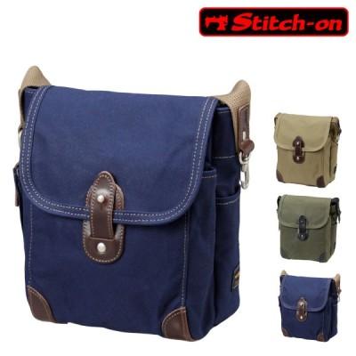 ステッチオン ショルダーバッグ 帆布シリーズ メンズ 52202 日本製 Stitch-on | 斜めがけ 豊岡 10号帆布 [PO10]