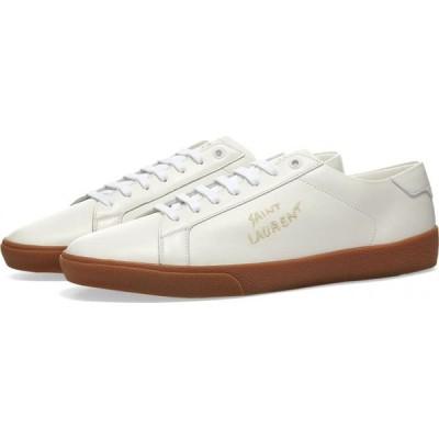 イヴ サンローラン Saint Laurent メンズ スニーカー シューズ・靴 SL06 Court Leather Signature Sneaker White/Gum