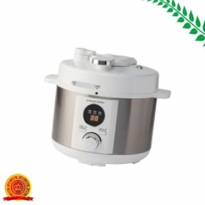 電気圧力鍋 2.0L 「簡単ほったらかし調理」50種類のレシピ付 LIVCETRA LPCT20W[代引選択不可]
