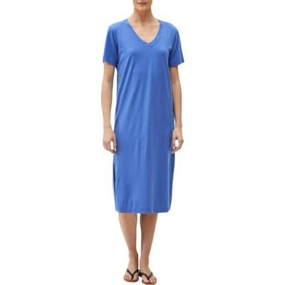 マイケルスターズ Michael Stars レディース ワンピース Vネック ワンピース・ドレス Sandra Cotton Modal Short Sleeve V-Neck Midi Dress Royal