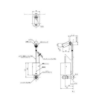TOTOアクアオートTEL120AW3壁付自動水栓(単水栓、発電)
