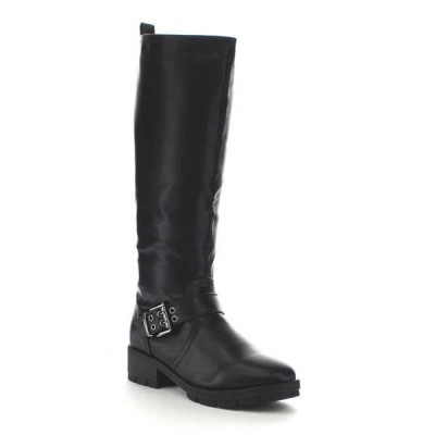 ブーツ シューズ 靴 海外厳選ブランド Forever GA19 レディース ファッション ニーハイ アンクルストラップ Lug Sole ライディング ブーツ BLACK