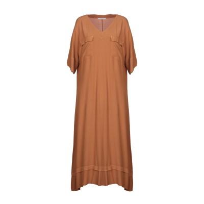 PAOLA PRATA 7分丈ワンピース・ドレス キャメル 1 レーヨン 100% 7分丈ワンピース・ドレス