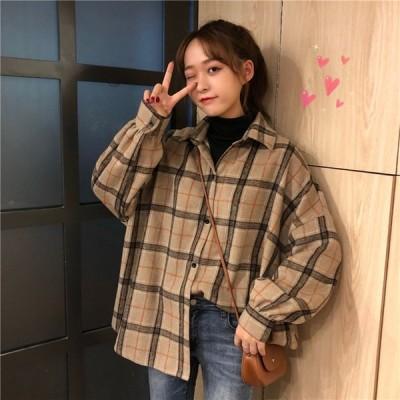 チェック シャツ タータンチェック 韓国 ファッション レディース トップス 10代 20代 高校生 カジュアル 2251