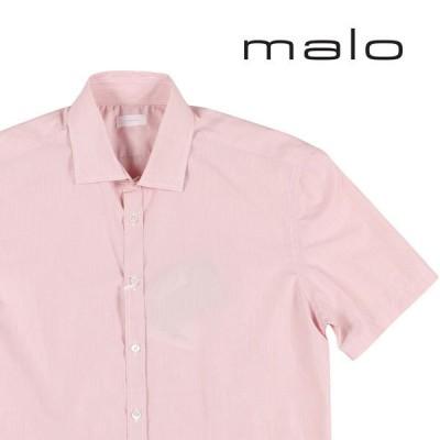 malo 半袖シャツ UAQ026 ピンク x ホワイト 41 【S19332】マーロ