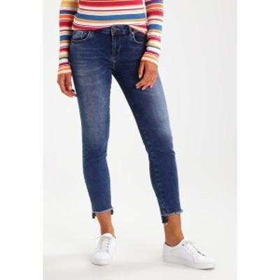 モス モッシュ レディース デニムパンツ ボトムス SUMNER STEP BLUE - Slim fit jeans - blue denim blue denim