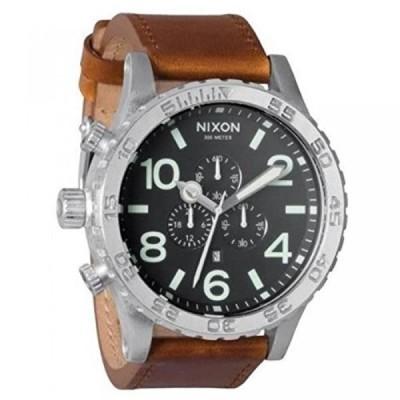 ニクソン 腕時計 メンズウォッチ Nixon A1241037-00 51mm Stainless Steel Case Brown Calfskin Mineral Men's Watch