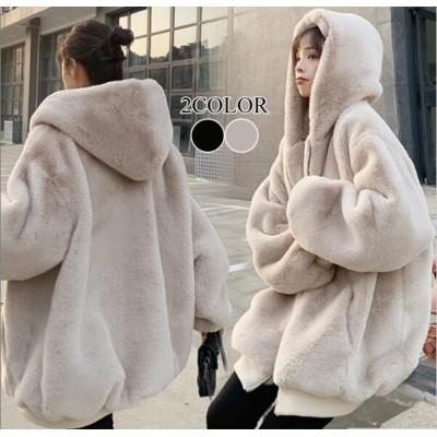 新作追加 特価💖 華やか♪暖かい人工ファー 秋と冬服新しいファッションステッチぬいぐるみ厚いのジャケットの女性 韓国ファッション