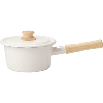 鍋 ギフト 送料無料 ハニーウエア コットン ソースパン (16cm)(ホワイト)(CTNー16S.W) / お鍋 片手鍋 一人暮らし 一人用 新築御祝い