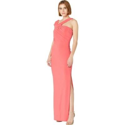 ビーシービージーマックスアズリア BCBGMAXAZRIA レディース パーティードレス ワンピース・ドレス Jersey Gown with Slit Sugar Coral