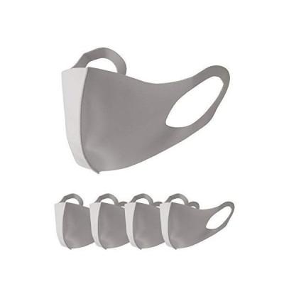 ティーシャツドットエスティー マスク アイスシルク 接触冷感 ふつうサイズ 5枚セット チャコール