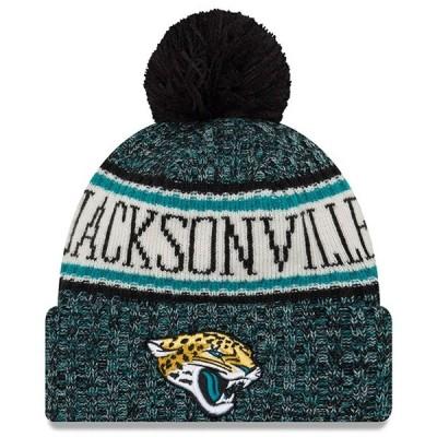 """ニューエラ メンズ ニット帽 """"Jacksonville Jaguars"""" New Era NFL 2018 Sideline Cold Weather Official Sport Knit Hat 帽子 Teal"""