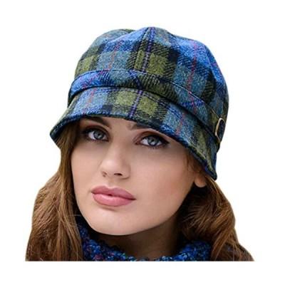 Ladies Flapper Hat Plaid. Made in Ireland from Irish Wool.