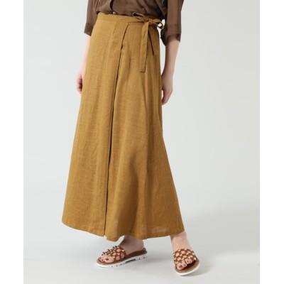 スカート リネン巻きスカート