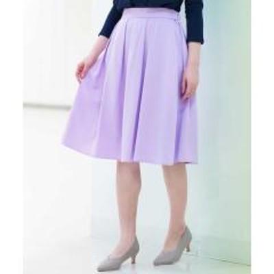 OFUON(オフオン)フレアミディ丈カラースカート【お取り寄せ商品】