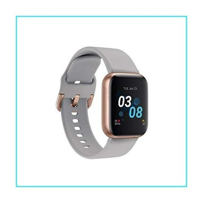 iTouch Air 3 Smartwatch for Fitness, iPhone and Android Compatible, Pedometer, Walking and Running Tracker for Women and Men (Grey/Rose Gold
