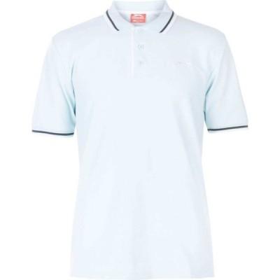 スラセンジャー Slazenger メンズ ポロシャツ トップス Tipped Polo Shirt Light Blue