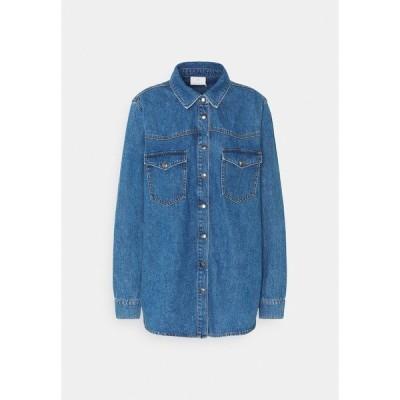 カフェ シャツ レディース トップス KAKEISHA  - Button-down blouse - denim blue