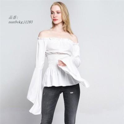 2019 オフ ショルダー T シャツ ホット販売 長袖 シャツ 女性 ため 固体洋服服 ファッション スリム シャツと トップス グループ上 レディース 衣服 から ブ