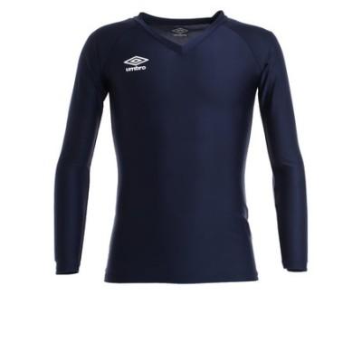 アンブロ(UMBRO)サッカー ウェア メンズ 長袖パワーインナーVネックシャツ UAS9701L NVY インナー アンダーシャツ