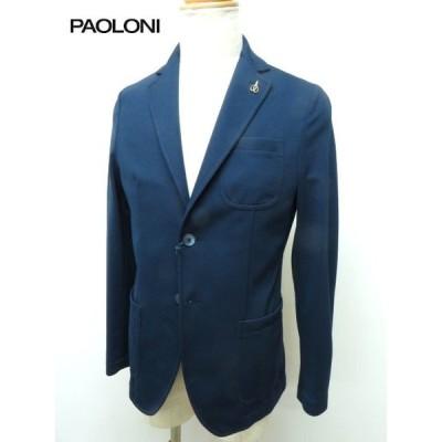 PAOLONI パオローニ メンズ ジャージ ストレッチ ネイビージャケット春夏/ 2611G947-191167-88ネイビー