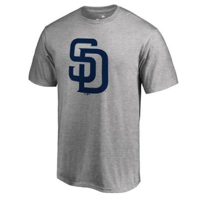 ユニセックス スポーツリーグ メジャーリーグ San Diego Padres Secondary Color Primary Logo T-Shirt - Ash Tシャツ