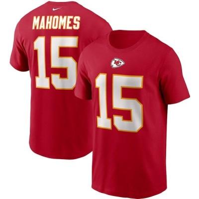 """ナイキ メンズ Tシャツ Patrick Mahomes """"Kansas City Chiefs"""" Nike Name & Number T-Shirt - Red"""