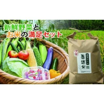 【10日前後でお届け】新鮮野菜とお米(5㎏)の満足セット<1.5-150>