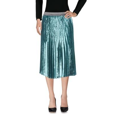 ピンコ PINKO 7分丈スカート エメラルドグリーン 44 100% ポリエステル 7分丈スカート