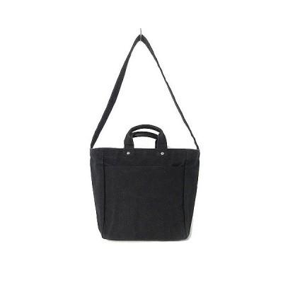 【中古】テンベア TEMBEA ショルダーバッグ キャンバス 斜めがけ ハンドバッグ 2WAY 黒 鞄 レディース 【ベクトル 古着】
