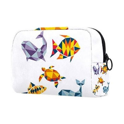 Cosmetic Bag for Women, Adorable Roomy Makeup Bags Travel Waterproof Toiletry Bag Tropical Fishes