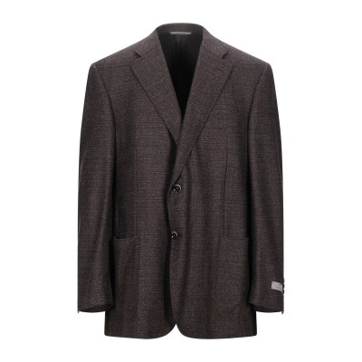 カナーリ CANALI テーラードジャケット ダークブラウン 60 ウール 100% テーラードジャケット