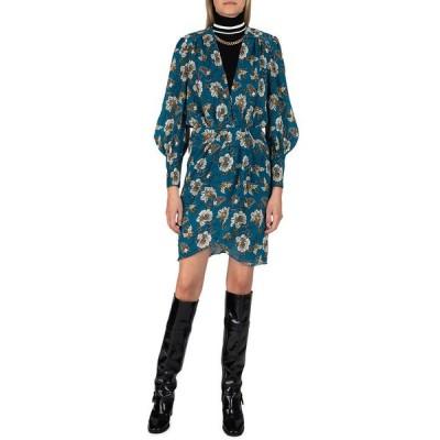 デレクラムテンクロスバイ レディース ワンピース トップス Freya Paisley Wrap Dress