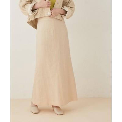 ADAM ET ROPE' / ヘビーリネンセミフレアスカート WOMEN スカート > スカート