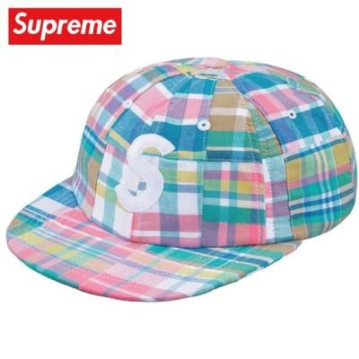 Supreme シュプリーム Patchwork Madras S Logo 6-Panel キャップ 帽子 Pink Plaid 2019年春夏