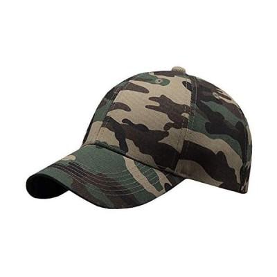 BUZZxSELECTION(バズ セレクション) メンズ 迷彩 キャップ 帽子 ミリタリー カジュアル カモフラ (01 グリーン サイズ)