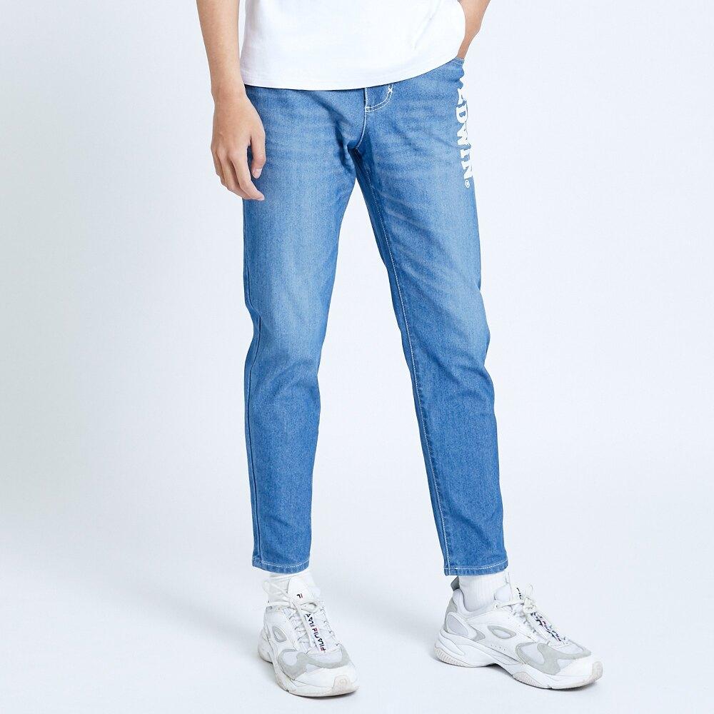 EDWIN JERSEYS 迦績 EJ6 運動透氣中低腰AB牛仔褲-男款 拔洗藍 TAPERED 目錄主打款