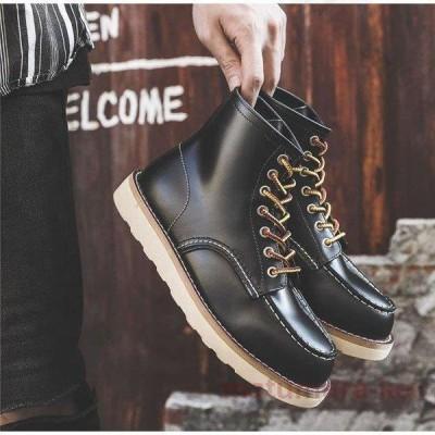 ワークブーツ メンズ ショートブーツ ハイカット レースアップシューズ メンズ靴 エンジニアーツ 大きいサイズ 歩きやすい 秋冬新作