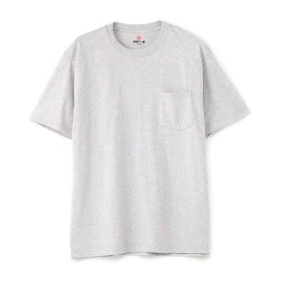 「BEEFY-T」 無地クルーネックポケットTシャツ メンズ
