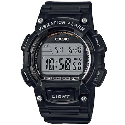 CASIO 強悍頂尖休閒玩家必備數位運動錶(W-736H-1A)-黑/47mm