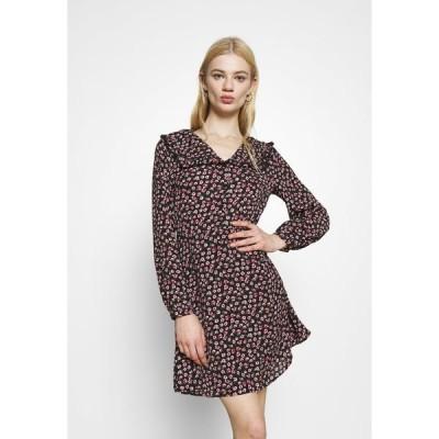 オンリー ワンピース レディース トップス ONLROSA DRESS - Day dress - black/rose